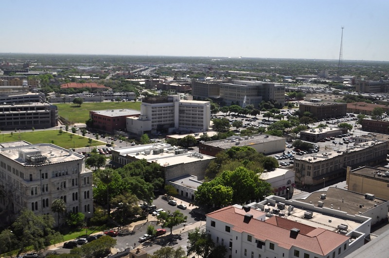 More than eight acres of prime downtown properties, including the Central Texas Detention Facility, surface parking lots, and the former Continental Hotel, are part the City's soon-to-be-released requests for proposals. Photo by Iris Dimmick.