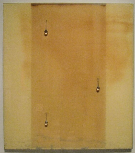 """""""Cry,"""" 1994, latex and glass on board. Photo courtesy of San Antonio Museum of Art."""