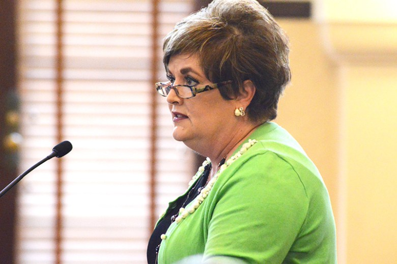 Renee Green, director of Bexar County Public Works, suggested that the Public Works department budget help fund some of the roads budget. Photo by Lea Thompson.
