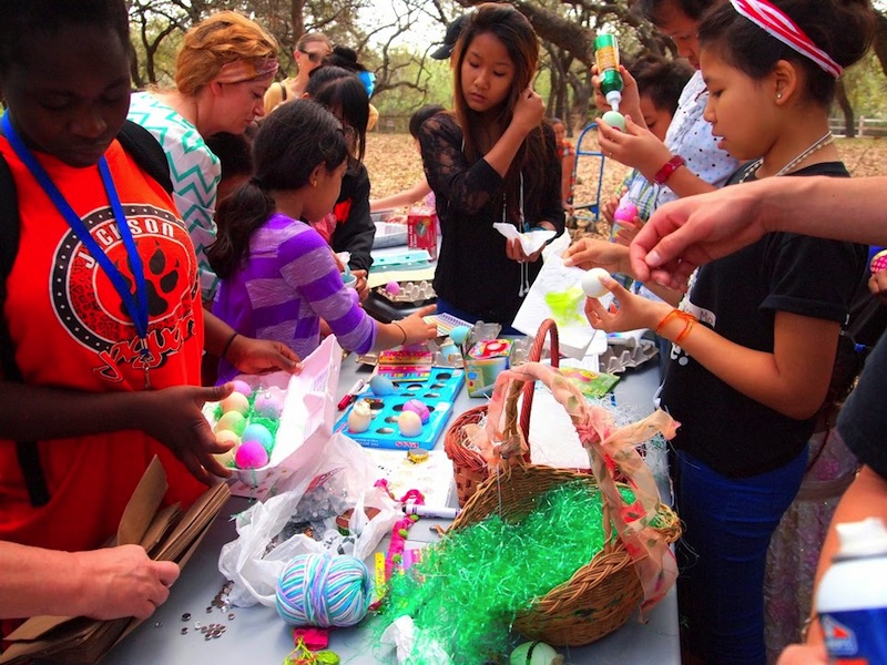 Children, teens, and adults of all religious backgrounds enjoy decorating easter eggs. Photo by Sheena Maria Connell.