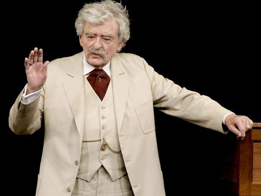 Mark Twain Tonight! is the longest running show in American theater. Hal Holbrook will appear at the Laurie Auditorium on March 24. Courtesty photo.