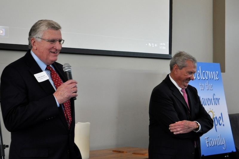 Incoming Haven for Hope President and CEO Kenny Wilson (left) and Haven board Chairman and philanthropist BIll Greehey. Photo by Iris Dimmick.