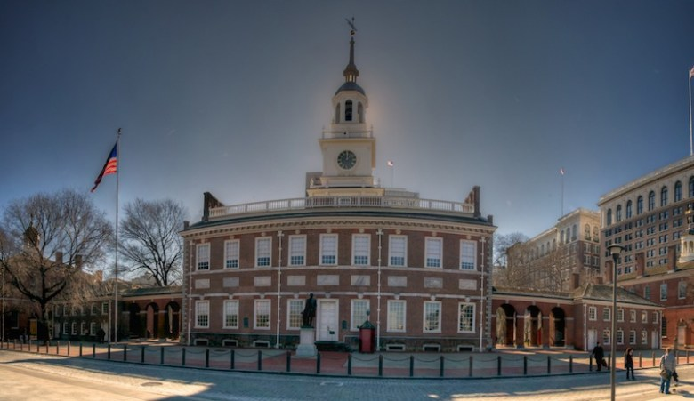 Independence Hall is the centerpiece of the Independence National Historical Park in Philadelphia, Pennsylvania. Photo by Flickr User Jim D.