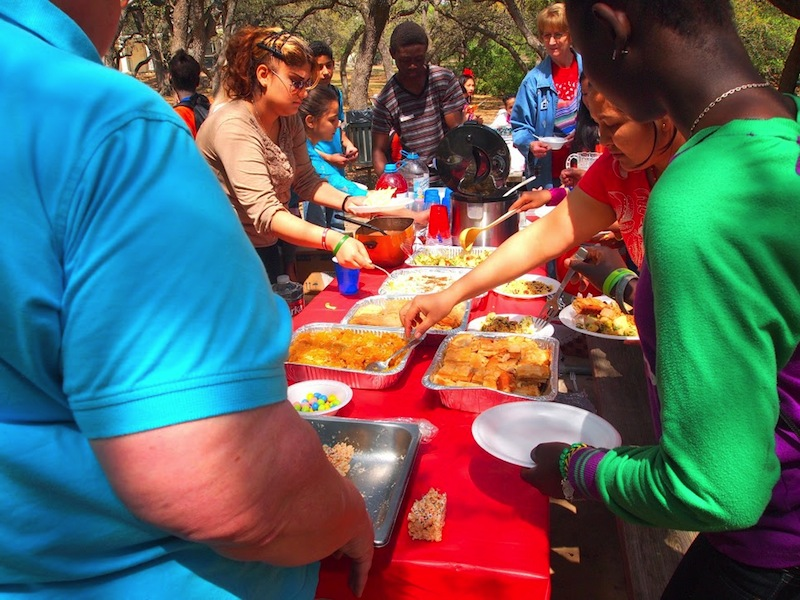 Lunch is served during the 2014 Celebrate Spring event. Photo by Sheena Maria Connell.