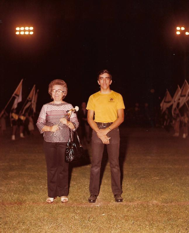 Victor Palma and his mother at Lytle High School, circa 1978. Photo courtesy of Victor Palma.