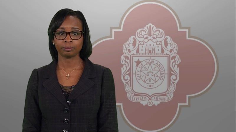 Screenshot of Mayor Ivy Taylor's video press release.