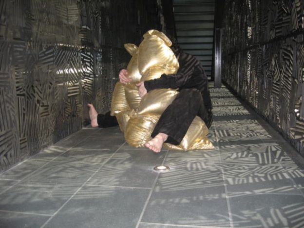 We Are a Handful, 2010, performance with Britt Lorraine, McNay Art Museum.