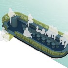 River barge design rendering by METALAB.