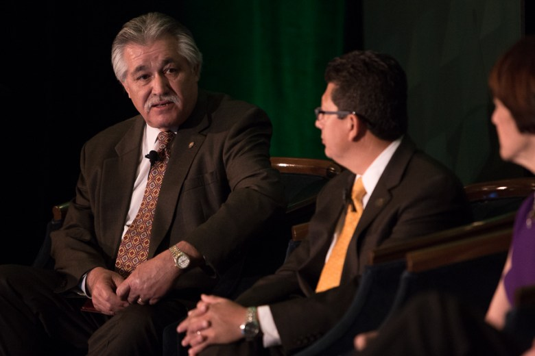 """Councilman Ray Lopez (D6) replies to a question during the panel titled """"Measuring Success"""". Photo by Scott Ball."""
