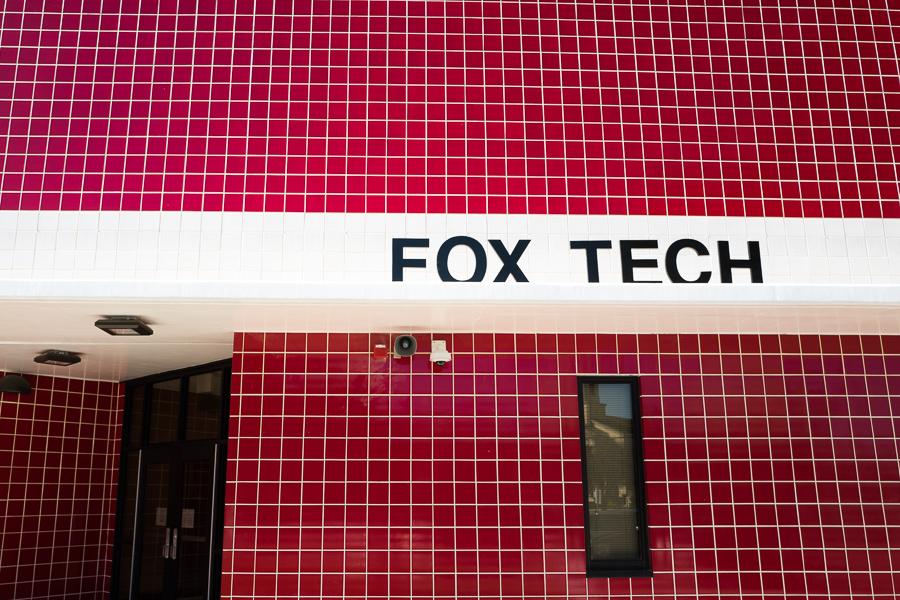 The entrance to Fox Tech High School. Photo by Scott Ball.