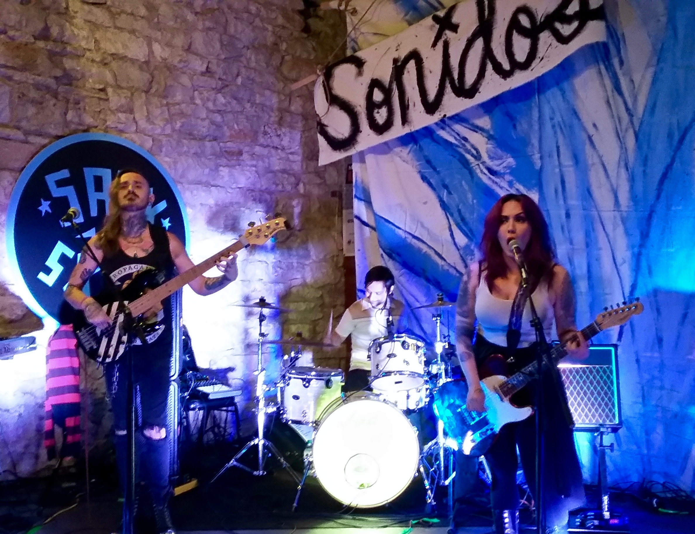 The Nina Diaz Band from San Antonio performs at the Life is Better in Texas party at Austin's Old School Bar and Grill on Saturday, March 12, 2016. Pearl sponsored the party. Photo by Edmond Ortiz