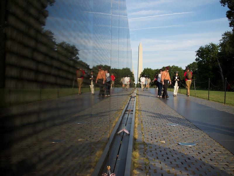 The Vietnam Veteran Memorial in Washington D.C. Photo courtesy of Flickr user Austin Kirk.