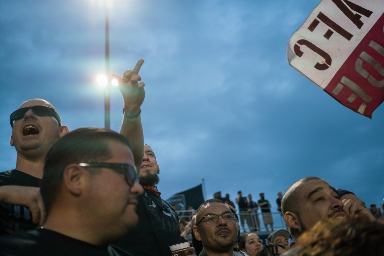 "San Antonio FC fans yell ""Puto"" as Swope Park does a goal kick. Photo by Kathryn Boyd-Batstone"