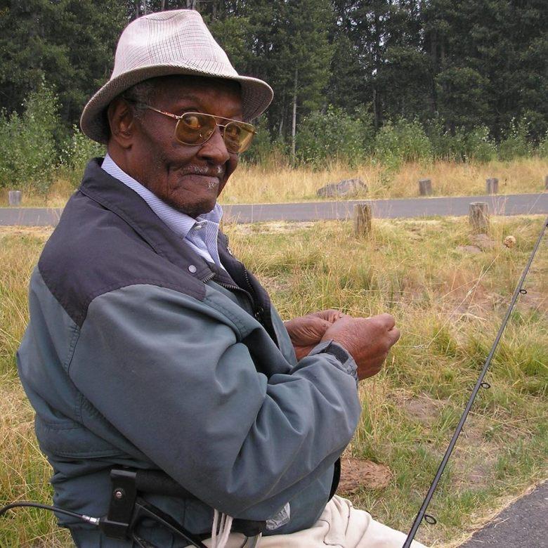 Moreese Bickham fishing. Photo Courtesy of Joan Cheever.