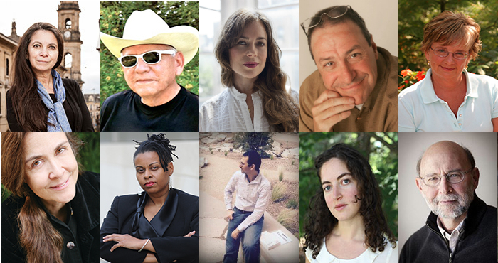 Clockwise from top left: Carmen Boullosa, Gregg Barrios, Kate Bolick, Joe Nocera, Wendy Williams, Stephen Harrigan, Laura Tillman, George T. Diaz, Kali Nicole Gross, and Naomi Shihab Nye.