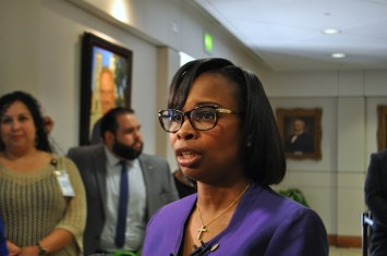 Mayor Ivy Taylor is confident that voters will support building a potentially $75 million baseball stadium downtown. Photo by Iris Dimmick