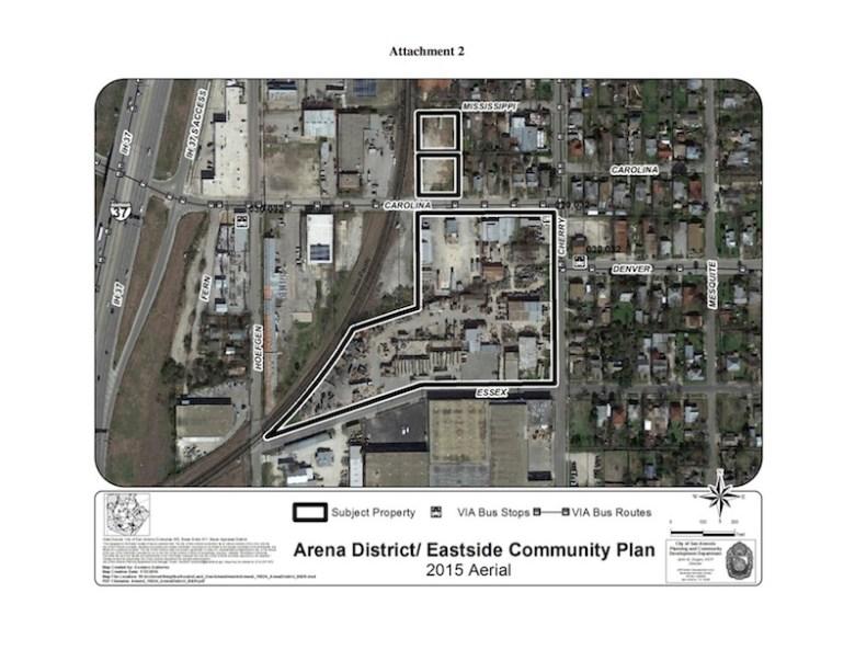 Aerial view of the proposed development site. Image courtesy of Efraim Varga