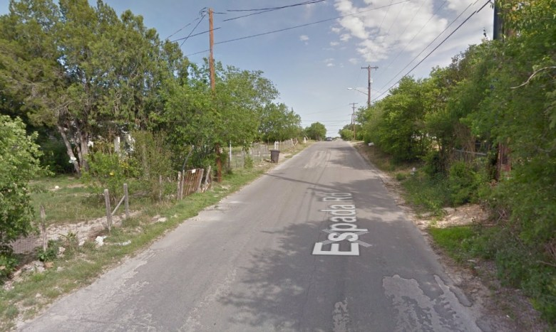 Espada Road before construction. Photo courtesy of Google Maps.