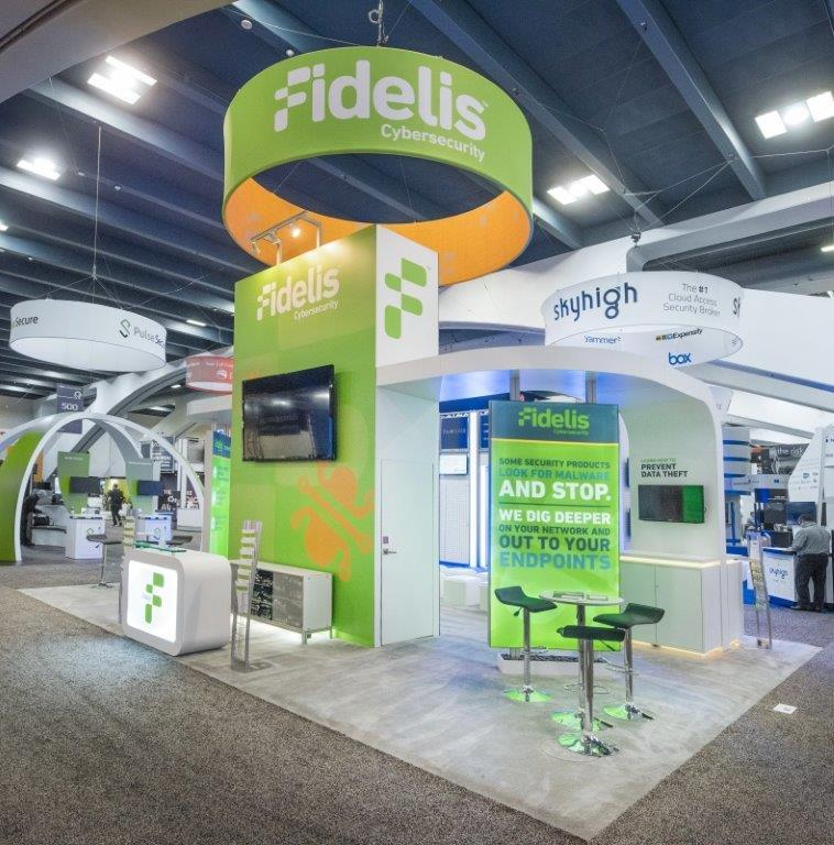 Fidelis Cybersecurity booth at RSA March 2016