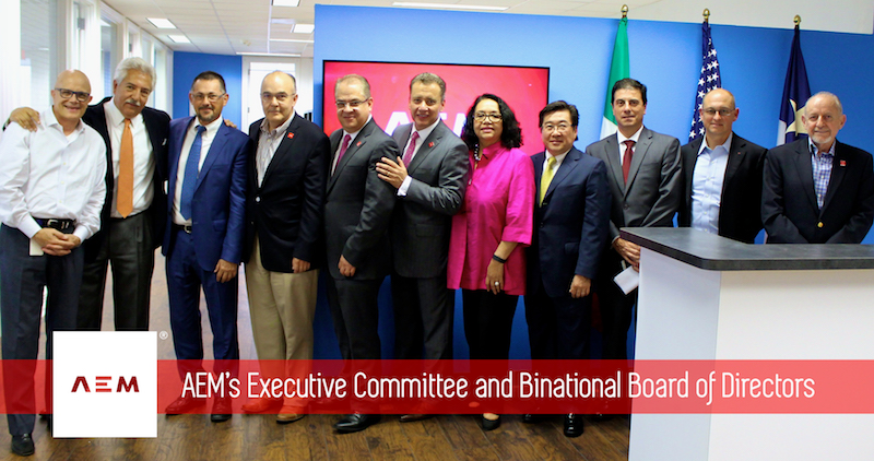 The AEM Executive Committee and Binational Board of Directors. Photo courtesy of AEM.