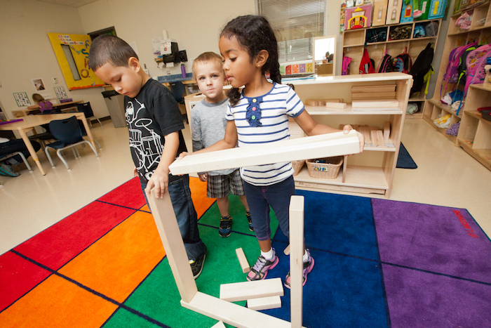 Pre-K 4 SA students play and learn at one of the program's four centers. Photo courtesy of Pre-K 4 SA