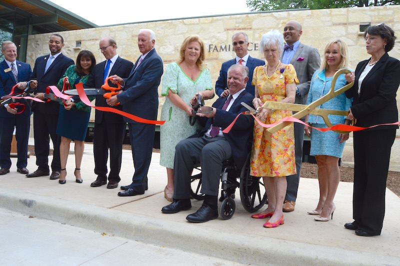 Witte Museum board members, leadership, elected officials, and Mays Family representatives cut the ceremonial ribbon for the Witte Museum's Mays Family Center. Photo by Lea Thompson