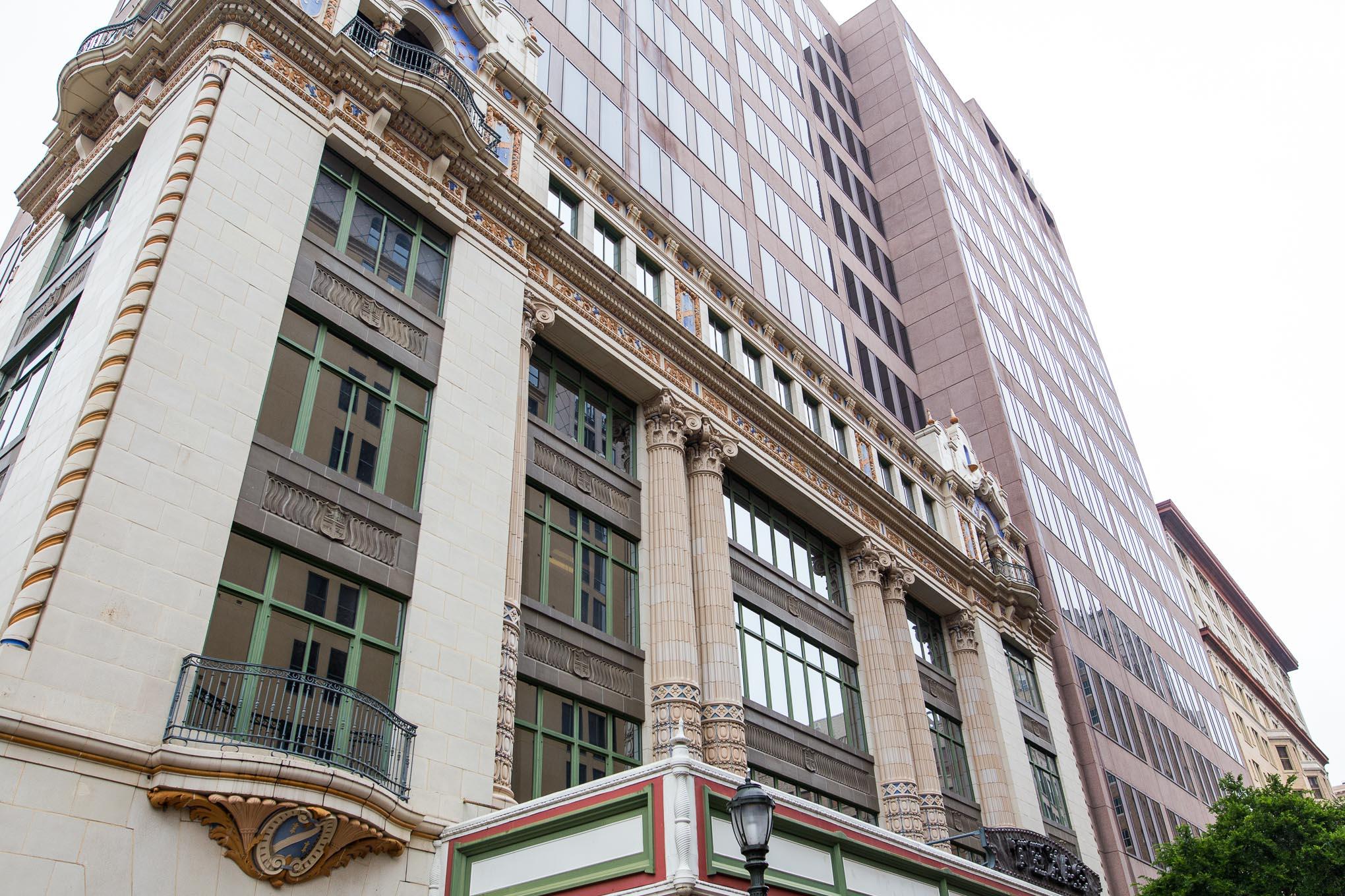 The historic Texas Theater facade on East Houston Street. Photo by Scott Ball.
