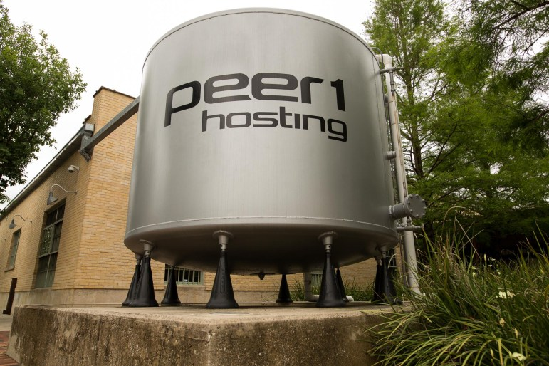 The entrance to Peer1 Hosting. Photo by Scott Ball. The entrance to Peer1 Hosting. Photo by Scott Ball.