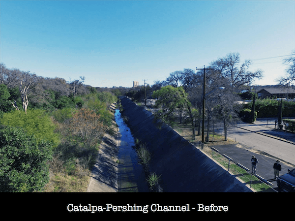 Catalpa-Pershing Channel as it exists today.
