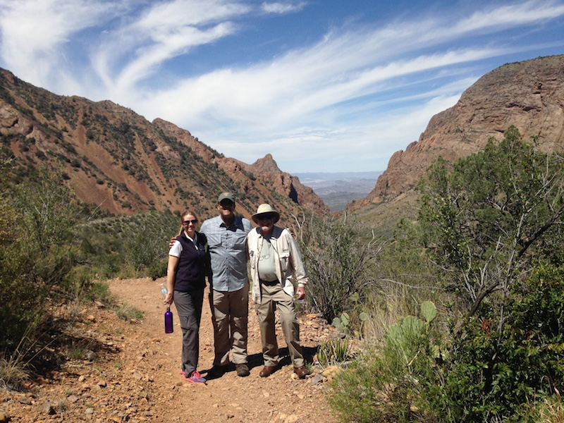 National Parks Conservation Association Suzanne Dixon, U.S. Rep. Will Hurd, and a park volunteer at Big Bend National Park. Photo courtesy of Will Hurd.