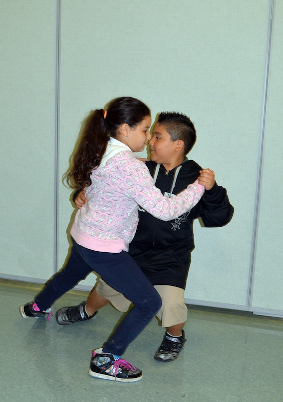 These young, practicing dance partners went on to win 1st place in tango at the Edgewood ISD Ballroom Dance competition. Photo by Ramon Hernandez.