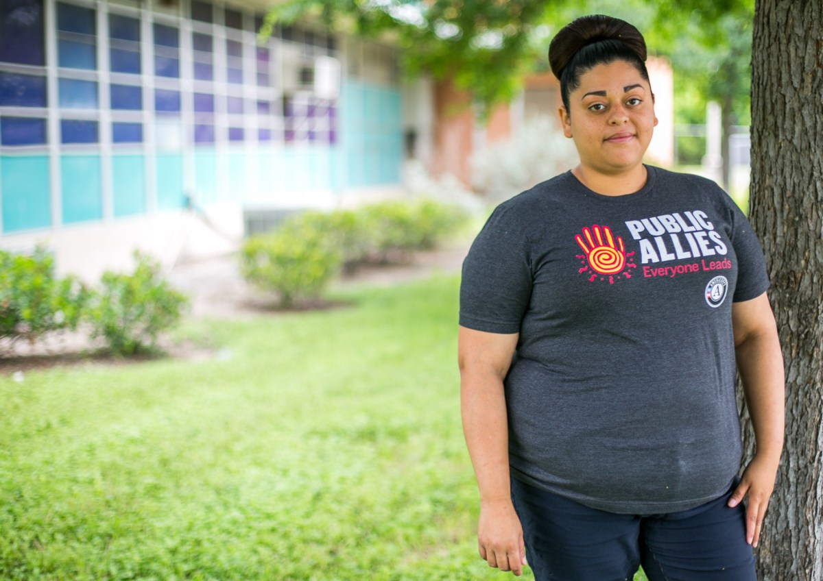 Once Castañeda completes the Ally Program she will qualify for two years of scholarships up to $6,000 per year at the Alamo Colleges. Photo by Kathryn Boyd-Batstone