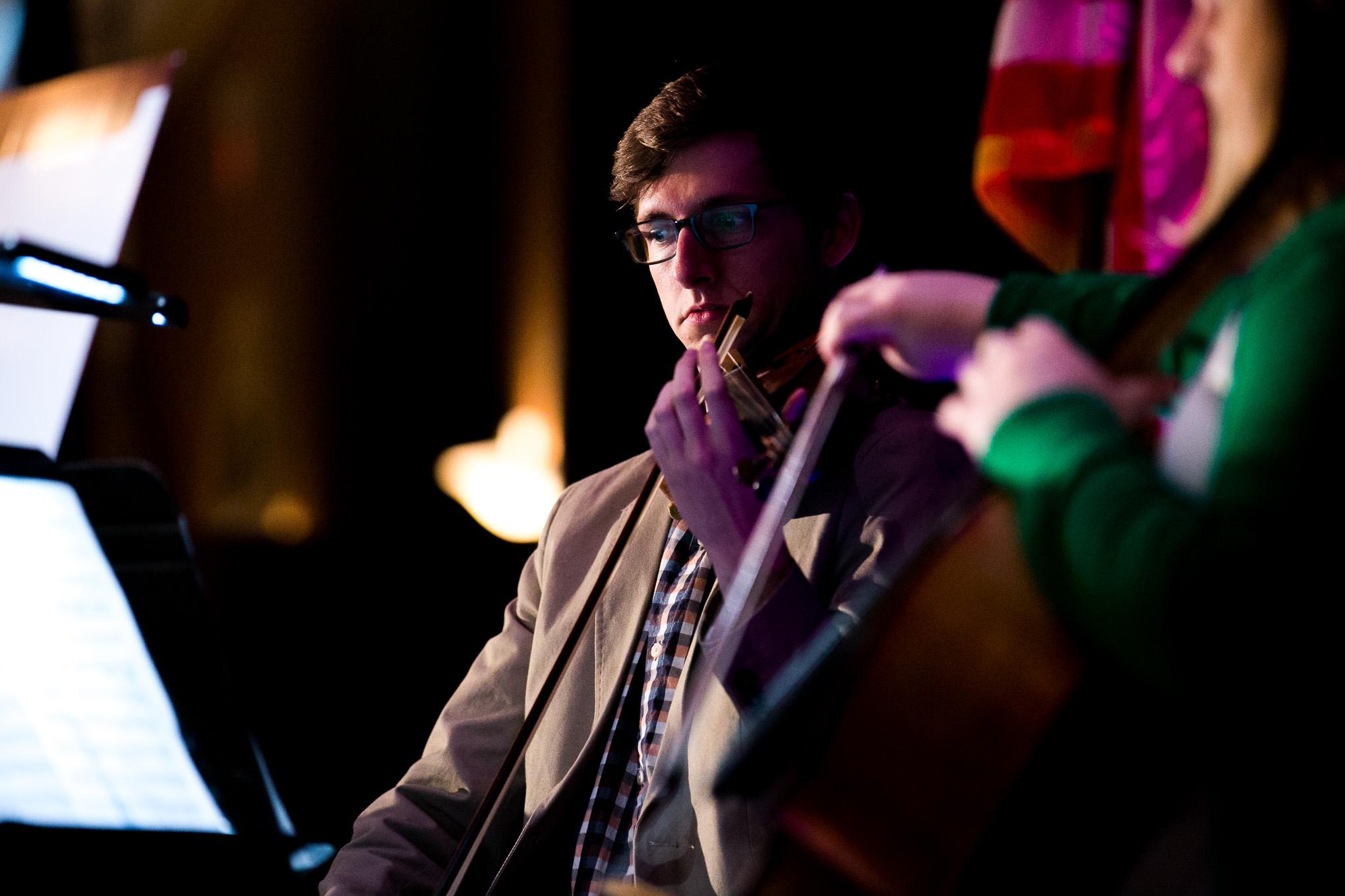 San Antonio Symphony Concertmaster Eric Gratz performs with the San Antonio Symphony String Quartet. Photo by Kathryn Boyd-Batstone