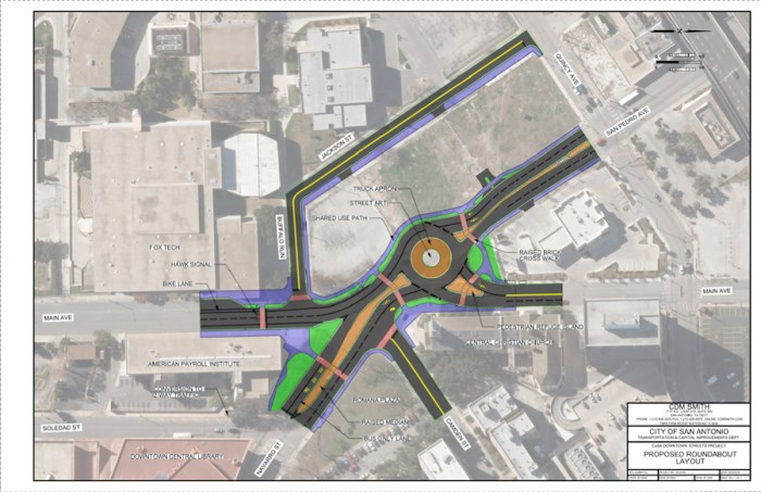 Proposed Roundabout Layout. Courtesy of City of San Antonio.