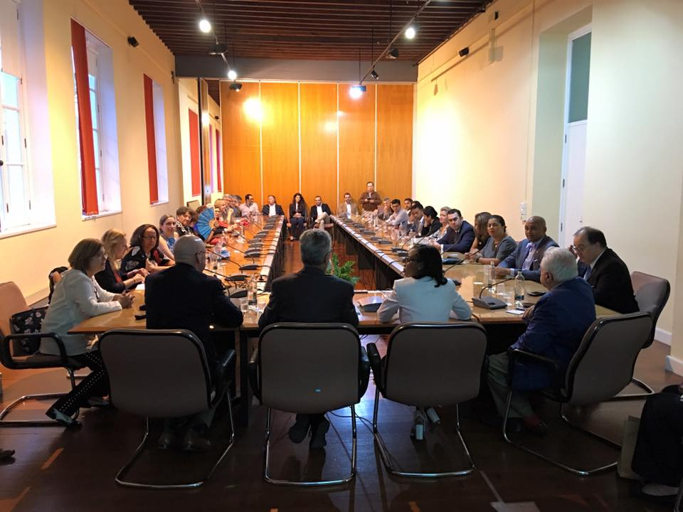 The delegation participates in a roundtable discussion and reception hosted by Universidad de las Palmas de Gran Canaria. Photo courtesy of Luis Rodriguez, Hispanic Chamber COO and VP of economic development.