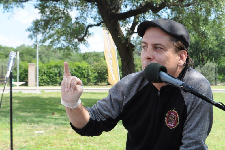 Chef Stephen Paprocki, owner of Texas Black Gold Garlic, is known for interactive food demonstrations. Photo by Lea Thompson
