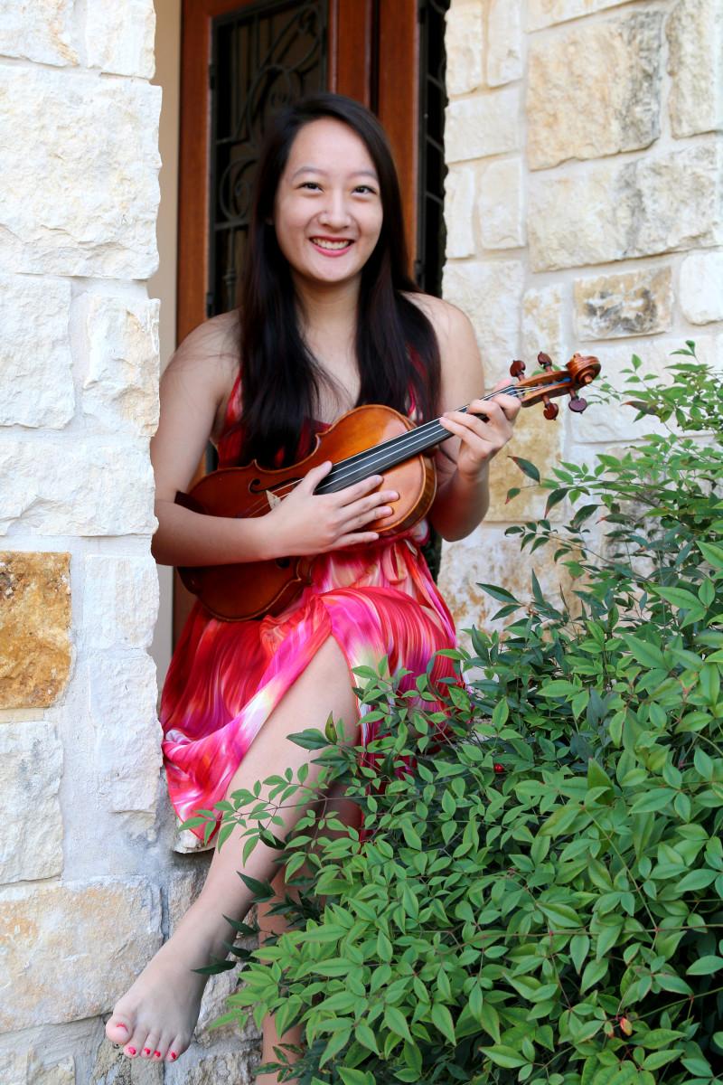 Emily Ye, 17, plays in the YOSA Philharmonic Orchestra. Courtesy photo.