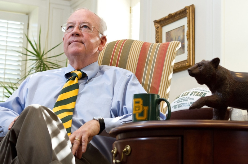 Former Baylor University President Ken Starr will continue to serve as the university's chancellor and as a law professor. Photo by Callie Richmond for the Texas Tribune.