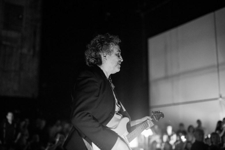 Joe Reyes looks towards his bandmates during the final performance. Photo by Scott Ball.