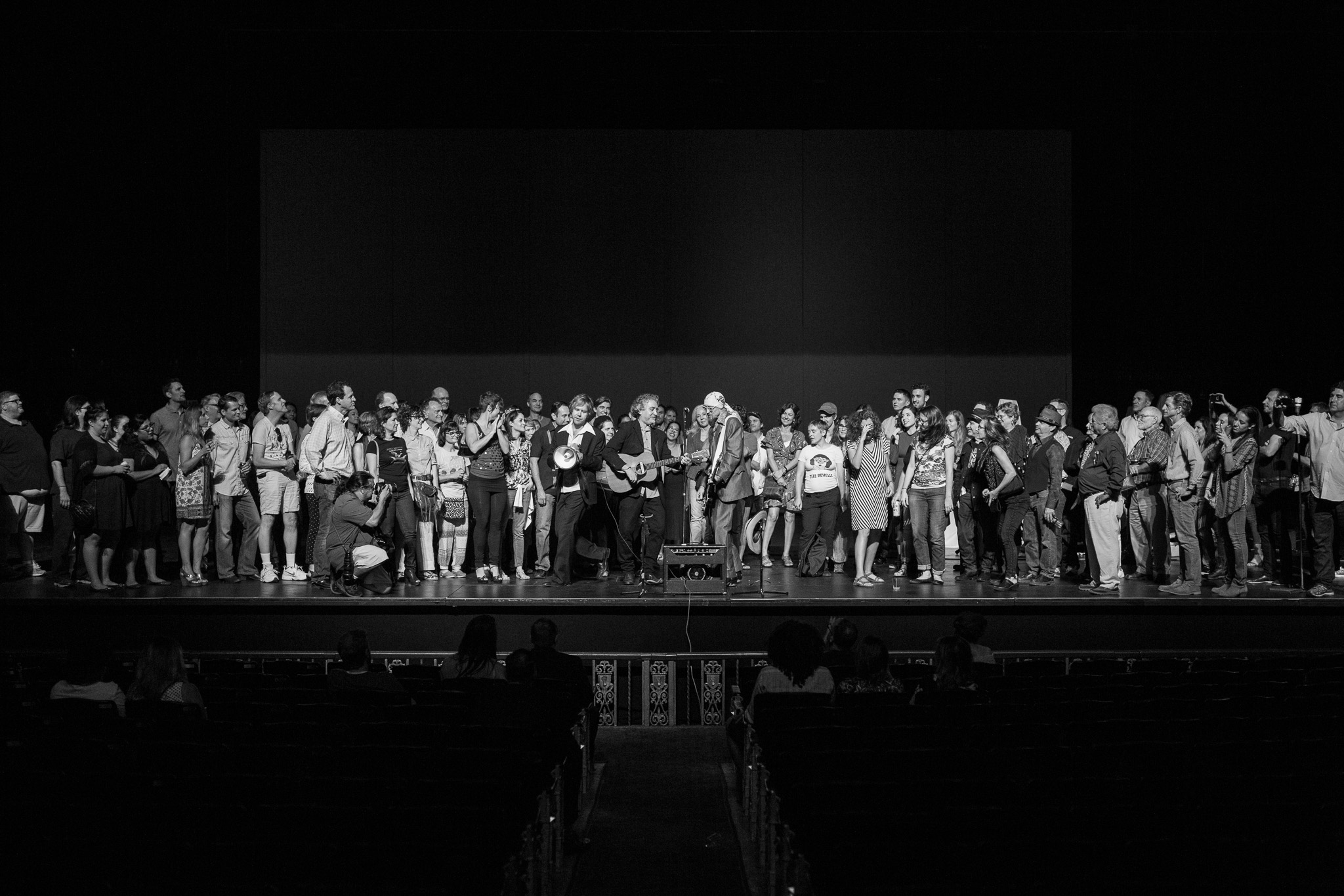 The entire audience joins Buttercup onstage during a performance at the Majestic Theatre. Photo by Scott Ball.