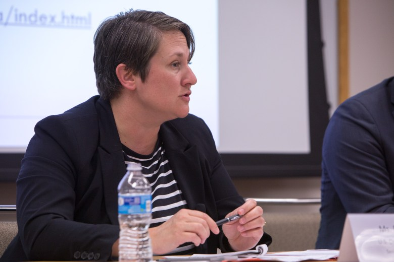 U.S. Department of Education Senior Advisor to the Secretary Ruthanne Buck responds to an attendee. Photo by Scott Ball.