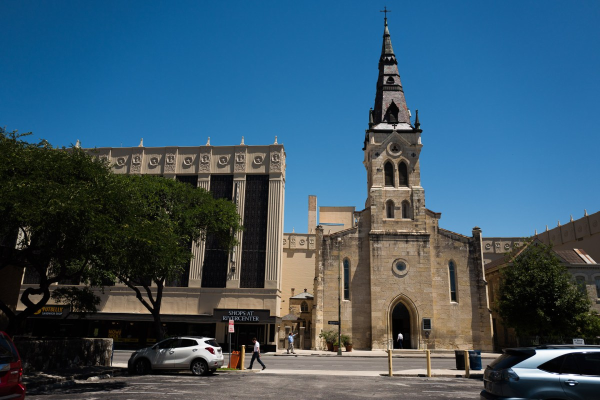 The St. Joseph Catholic Church on East Commerce Street. Photo by Scott Ball.
