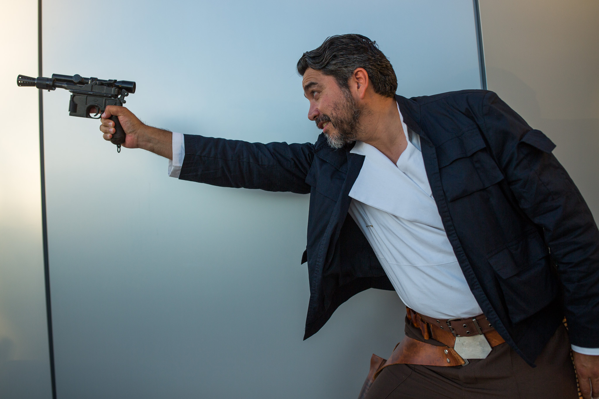 Councilman Roberto Treviño (D1) poses as Han Solo during the event. Photo by Scott Ball.