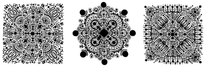 Mexican Mandalas (2014-15), ink on paper by Jose Fidel Sotelo.