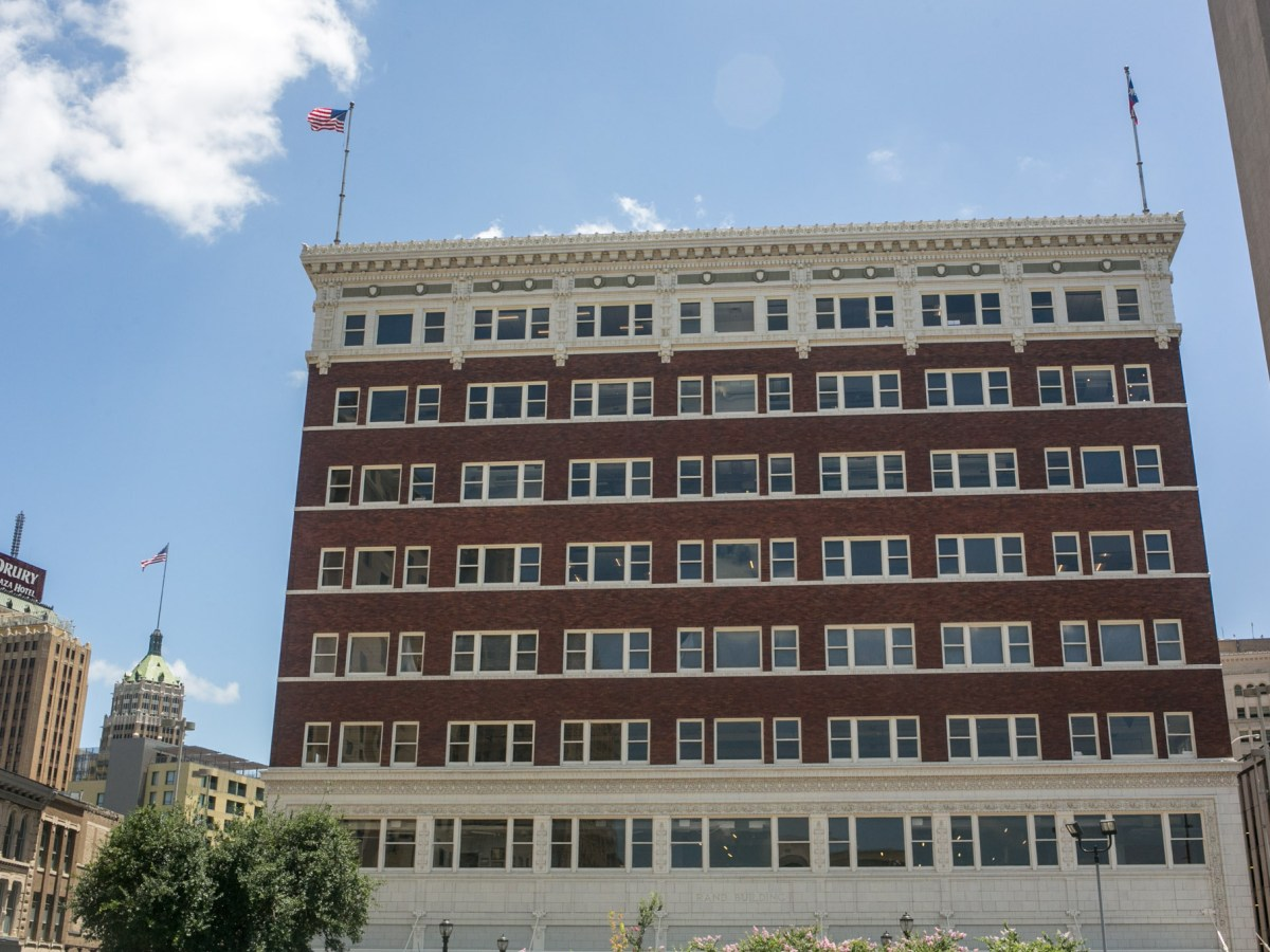 The Rand Building is on the corner of E. Houston St. and N. Main Ave. Photo by Kathryn Boyd-Batstone.