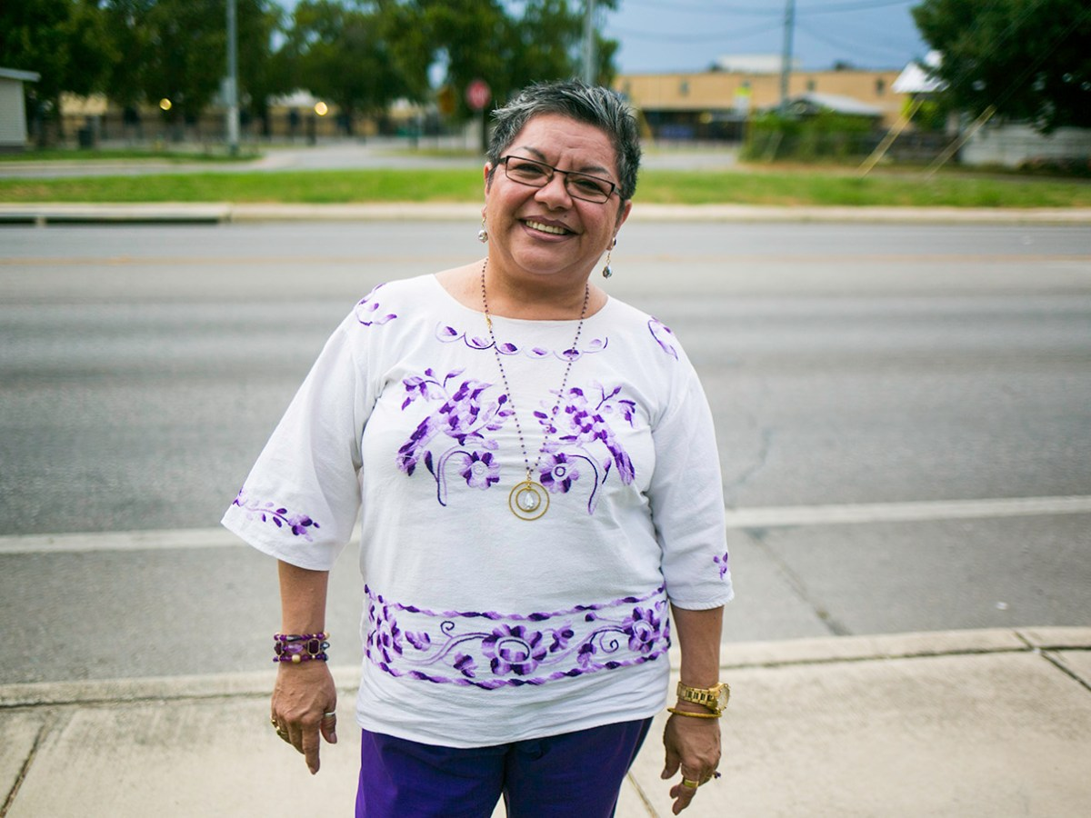 Patricia Castillo is one of many feminist activists in San Antonio who has dedicated her life to her work. Photo by Kathryn Boyd-Batstone.