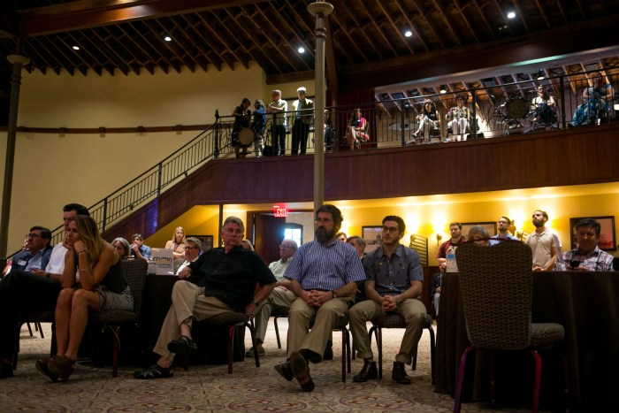 More than 150 gathered to discuss how the City plans to allocate the 2017 municipal bond revenue. Photo by Kathryn Boyd-Batstone.