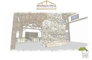 Magnolia Halle will serve as an urban barn with indoor growing practices and will also include a space for special events. Rendering courtesy of Culinaria.