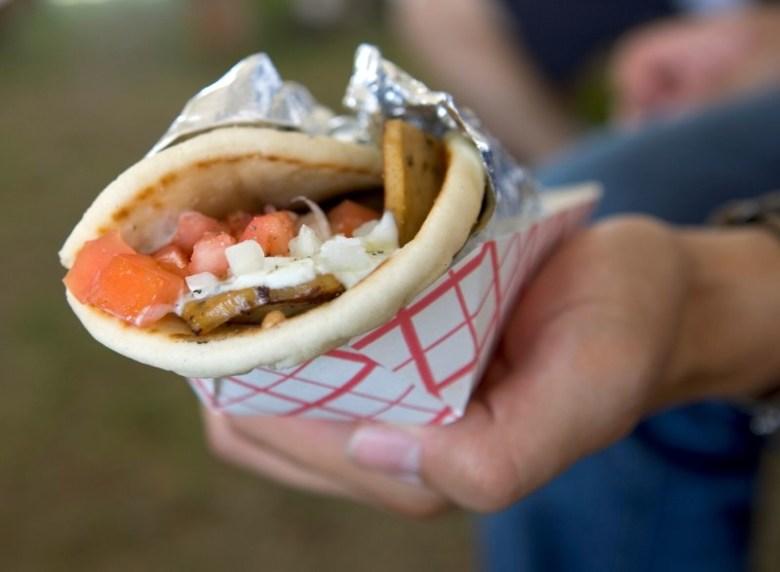 Greek gyro. Photo courtesy of the Texas Folklife Festival.
