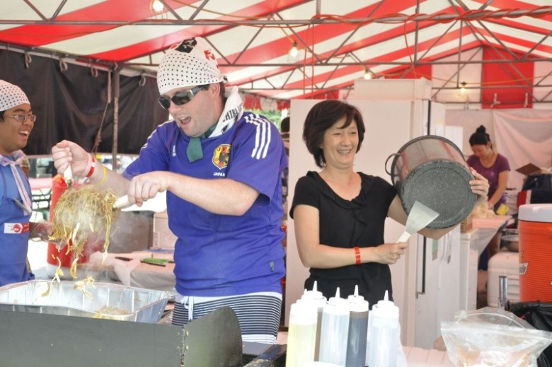 Japanese Yakisoba is served at a previous festival. Photo courtesy of the Texas Folklife Festival